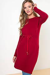 Šaty - ŠATY TIEDUP RED - 11034051_