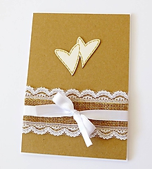 Papiernictvo - pohľadnica svadobná - 11032549_
