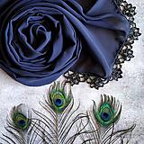 Šály - Malá noční bouřka - šedý šál s čipkou - 11032766_