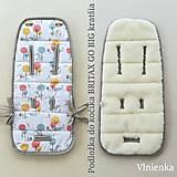 Textil - BRITAX RÖMER GO BIG Podložka do kočíka VLNIENKA 100% Merino Top super WASH LES VLKY - 11032505_