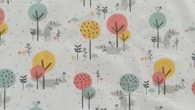 Textil - VLNIENKA výroba na mieru 100 % bavlna potlačená detské vzory FR - 11035443_