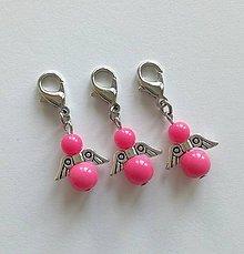 Kľúčenky - Minianjelik (Ružová) - 11035338_