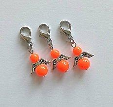 Kľúčenky - Minianjelik (Oranžová neon) - 11035370_