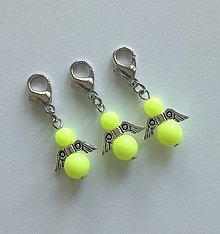 Kľúčenky - Minianjelik (Žltá neon) - 11035378_