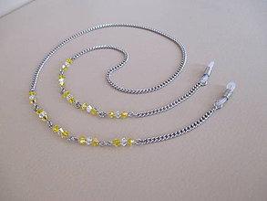 Iné šperky - Swarovski - retiazka na okuliare - chirurgická oceľ - žlto/priehľadná - 11034143_