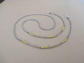 Iné šperky - Retiazka na okuliare - chirurgická oceľ - sýrovožltá - 11034264_