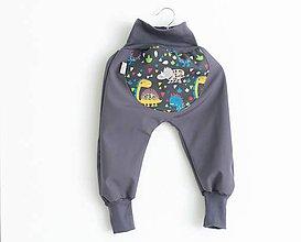 """Detské oblečenie - Softshellky """"happy dino"""" - 11033118_"""