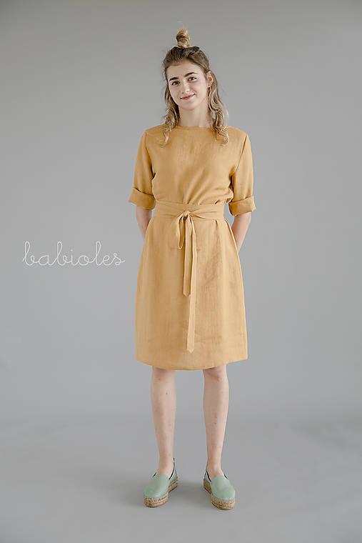 Šaty - Robe de Lin IV - 100% ľan - 11032585_