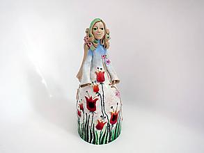 """Socha - """"Tulipánka """" - maľovaný zvonec - 11034715_"""