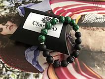 Náramky - Náramok Green Black / Green Black Bracelet - 11035093_