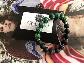 Náramky - Náramok Green Black / Green Black Bracelet - 11035092_
