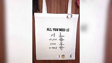 Iné tašky - ♥ Plátená, ručne maľovaná taška ♥ - 11034512_