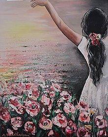 Obrazy - Na ružovej lúke - 11033799_