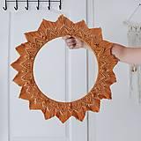 Dekorácie - Maxi macramé BOHO slnko - 11033461_