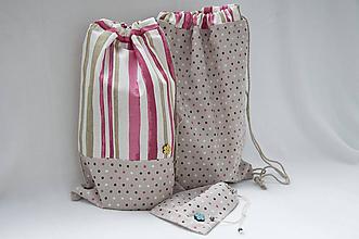 Detské tašky - Vrecúška pre školáčku - 11035187_