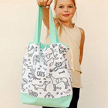 Detské tašky - Tvoritaška na výtvarnú mätová - 11034954_