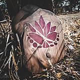 Hodiny - RAW Flower - Teakové drevené hodiny - 11034335_