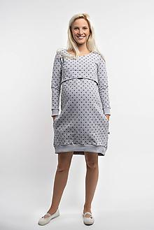 Tehotenské/Na dojčenie - Teplákové Tehotenské šaty na dojčenie 3 v 1 - 11033802_