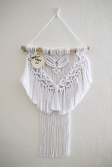 Dekorácie - Závesná dekorácia WHITE - 11033086_