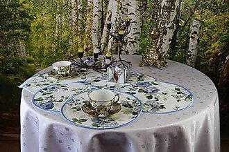 Úžitkový textil - Prestieranie piknik v modrom 3 - 11035968_