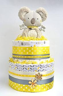 Detské doplnky - Plienková torta Koala - 11033205_