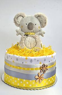 Detské doplnky - Plienková torta Koala mini - 11033247_