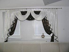 Úžitkový textil - Dekoračný komplet - hnedé baroko - 11032577_