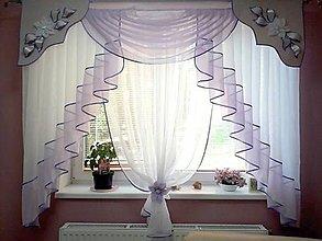Úžitkový textil - Záclona Lusy fialová - 11032614_