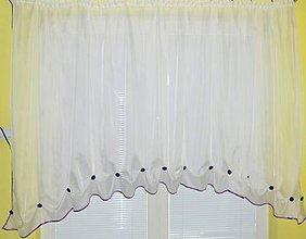 Úžitkový textil - Voálová záclona Slnika - 11034080_