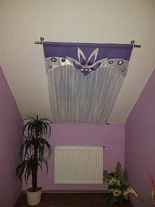 Úžitkový textil - Záclona na strešné okno fialová - 11034790_