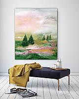 Obrazy - Ružová príroda, 100x120 - 11033309_