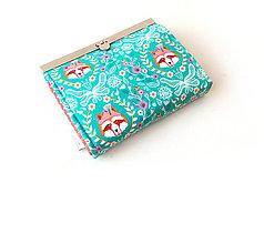 Peňaženky - Peňaženka s priehradkami Nežný vlk - 11035034_