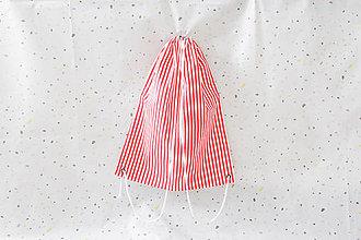 Batohy - Vak prúžky červená/ biela - 11032229_