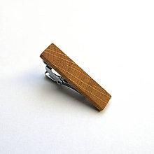 Šperky - Drevená spona na kravatu - dubová malá - 11033740_