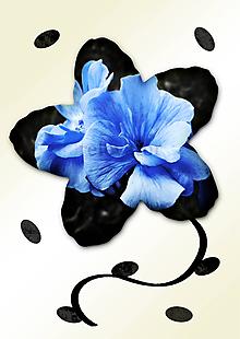Grafika - Kvety v kvete (modré z neba) - 11034976_