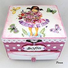 Krabičky - Šperkovnica pre dievčatko - 11036545_