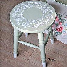 Nábytok - Drevená stolička- Rozeta - 11036669_