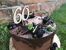 Dekorácie - Zápich na tortu číslo 60 - 11038381_