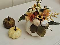 Dekorácie - Jesenná dekorácia- tekvica - 11038794_