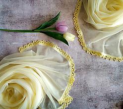 Šály - Jarní medový - žltý set šálů pro mamku a dcerku - 11038261_