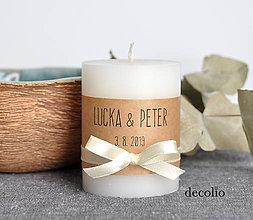 Svietidlá a sviečky - Darček pre hostí #33 - 11039917_
