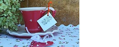Nádoby - Červená šálka na kávu - 11036796_