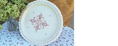 Nádoby - Honosný keramický podnos na dobroty - červený - 11036837_