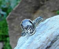 Prstene - Strieborný Prsteň s Rutilovým Krištáľom - 11038349_