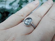 Prstene - Strieborný Prsteň s Rutilovým Krištáľom - 11038351_