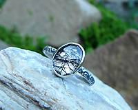 Prstene - Strieborný Prsteň s Rutilovým Krištáľom - 11038353_