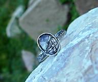 Prstene - Strieborný Prsteň s Rutilovým Krištáľom - 11038355_