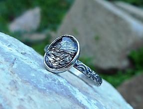 Prstene - Strieborný Prsteň s Rutilovým Krištáľom - 11038354_