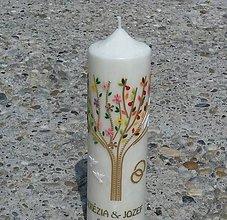Svietidlá a sviečky - palmová sviečka Matrimonio - 11037386_