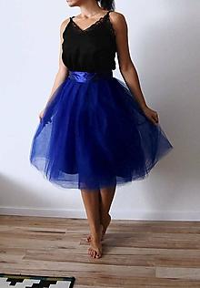 Sukne - Tylová sukňa Royal blue - 11038256_